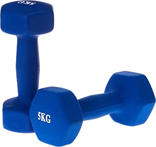 Genconnect Dumbbell(Sold In Pair),Blue, 5kg, (Pack of 2)