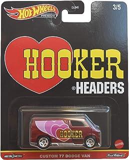 DieCast Hotwheels Custom '77 Dodge Van, Hooker Headers 3/5 [rood]