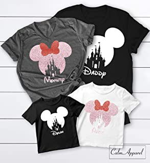 Family Vacation Shirts, Mickey Minnie Matching Trip T-Shirts 2019, Ladies Summer Castle Tanks