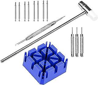 LHKJ 14 Pcs Montre Outil de Réparation Kit Outil Chasse Goupille Ajustable Compatible avec Montres