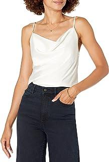 The Drop Christy Cowl cuello Cami sedoso elástico parte superior para Mujer