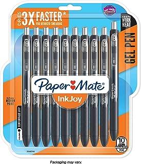 Paper Mate InkJoy Gel Pens, Medium Point, Black, 10 Count - 1951640