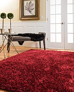 Natural Area Rugs Hand-Tufted Carnation Polyester Rug 9' x 12' Red