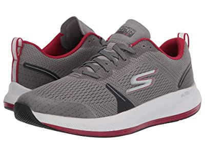 SKECHERS Go Run Pulse (Grey/Red) Men