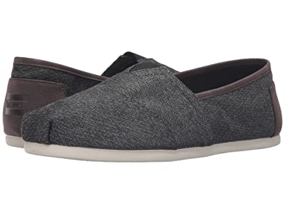 TOMS Seasonal Classics (Charcoal Herringbone) Men
