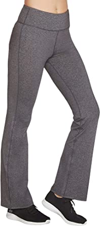 Skechers Womens W03PT51 Go Walk Affinity High Wasited Flared Leg Pant Pants - Gray