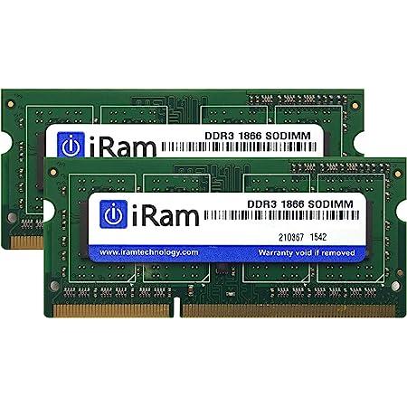 iRam Technology iMac(Late2015 27インチRetina 5K)用メモリ 16GB (8GB 2枚組) IR8GSO1866D3/2