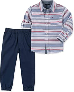 Tommy Hilfiger Baby Boys 2 Pieces Shirt Pants Set