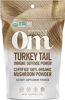 Om Organic Mushroom Nutrition Supplement,Turkey Tail: Holistic Defense, Immune Support, 50 servings, 3.57oz, 100 Gram