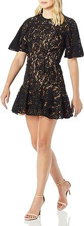 Keepsake the Label Women's Dreamers Short Sleeve Lace Ruffle Hem Mini Dress