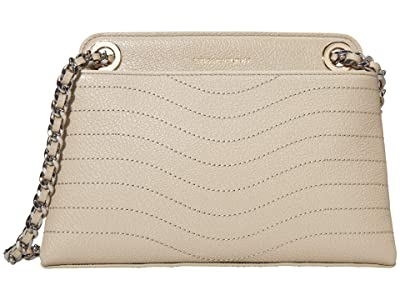 Rebecca Minkoff Mab Wave Double Zip Crossbody (Tahini) Handbags