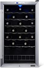 NewAir Wine Cooler and Refrigerator, 33 Bottle Freestanding Wine Chiller Fridge, Stainless steel with Glass Door, AWC-330E