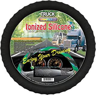 "Best New Silicone Semi-truck Steering Wheel Cover Fits 16"" 17"" 18"" 19"" Steering Maximum Grip Review"