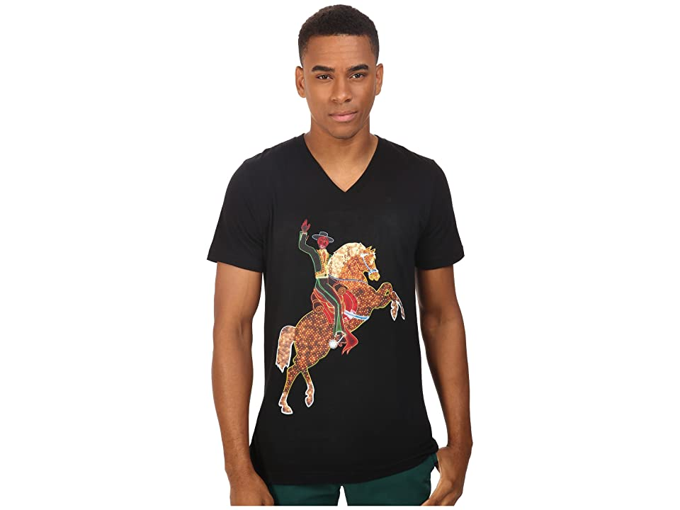 Life is Beautiful Neon Horse V-Neck Tee (Black) T Shirt