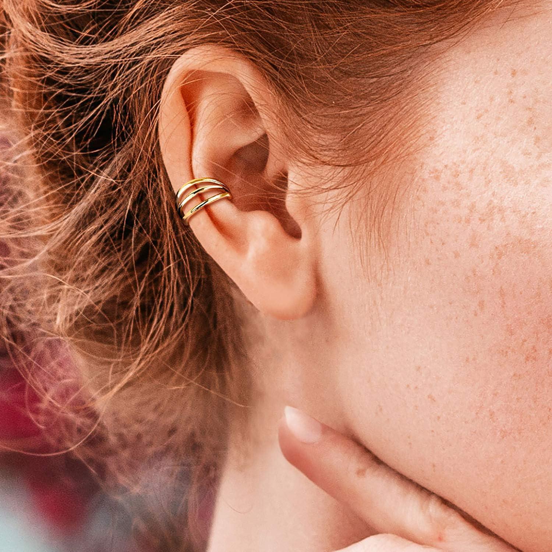 BodyJ4You Piercing Ring 16G Hinged Clicker Implant Grade Titanium Triple Hoops Septum Nipple Daith Ear