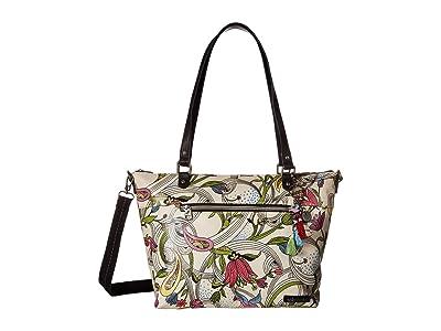 Sakroots Artist Circle City Satchel (White Peace Dove) Satchel Handbags