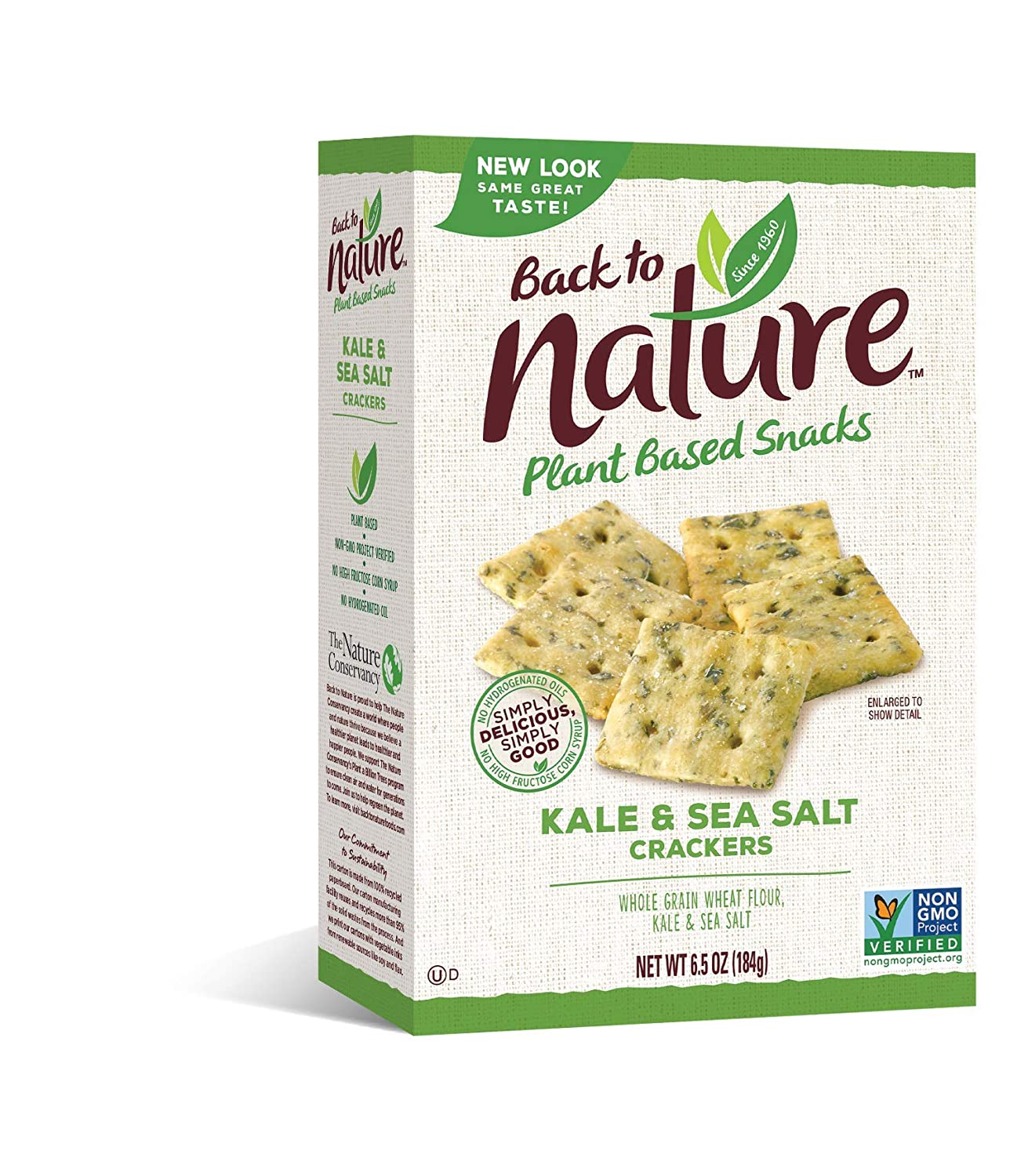 Back to Nature Crackers Low price Non-GMO Quality inspection Sea 6.5 Ounce Salt Kale
