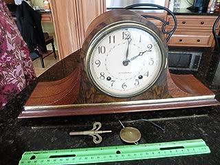 Seth Thomas Vintage Mantle Clock wood Staunton 2W 8-Day Springwound NOT WORKING