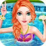 女の子のためのプールパーティー:ドレスアップとファッションコンテスト - 子供と女の子のためのゲーム!無料ゲーム