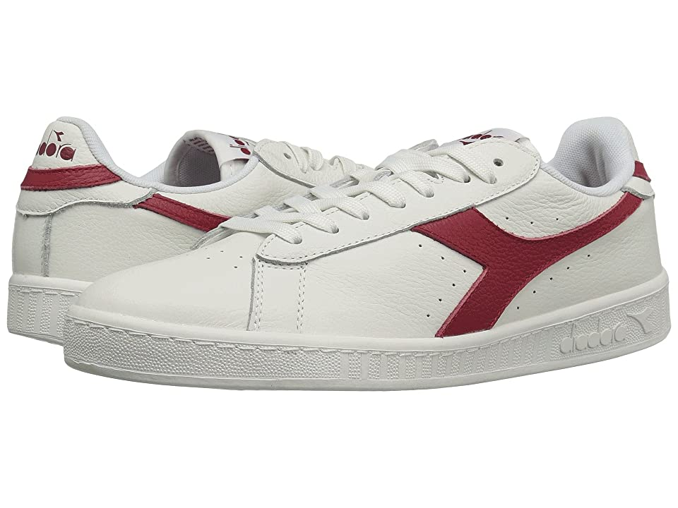 Diadora Game L Low Waxed (White/Red Pepper) Athletic Shoes