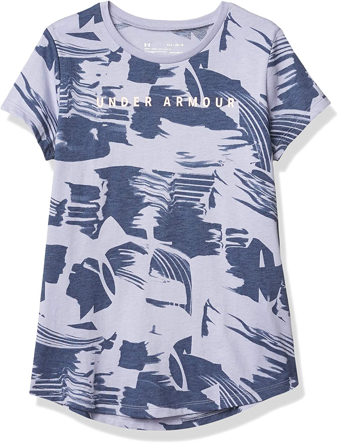 Under Armour Girls' Allover Print Sleeve Graphic Austin Mall Short El Paso Mall T-shirt