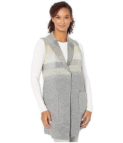 Tribal Shawl Collar Vest with Pockets (Grey Mix) Women