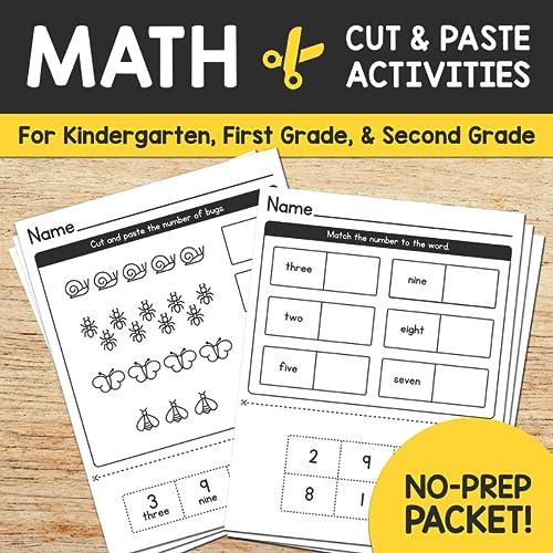 Cut & Paste Kindergarten Math Worksheets - Counting