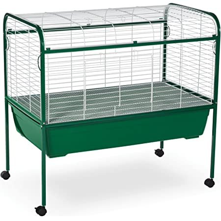 Prevue Pet Products Small Animal Cage with Stand 520 Green and White, 40-Inch by 23-1/2-Inch by 37-Inch