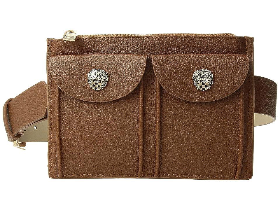 Vince Camuto Double Pocket Belt Bag (Cognac) Women