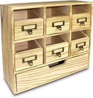 Ikee Design Wooden Desktop Drawers & Craft Supplies Storage Cabinet