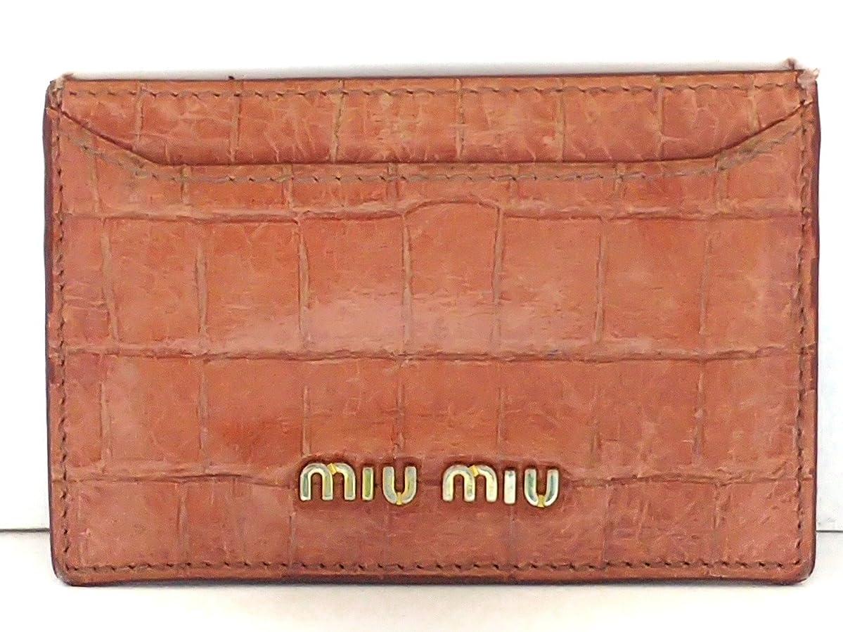 自分自身援助するおもしろい(ミュウミュウ) MIUMIU カードケース ピンク 【中古】