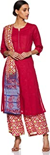 BIBA Women's cotton achkan Salwar Suit Set