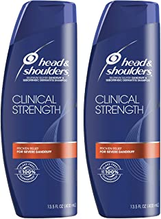 Champú Head and Shoulders Clinical Strength para tratar la caspa y la dermatitis seborreica 400 ml (paquete de 2)