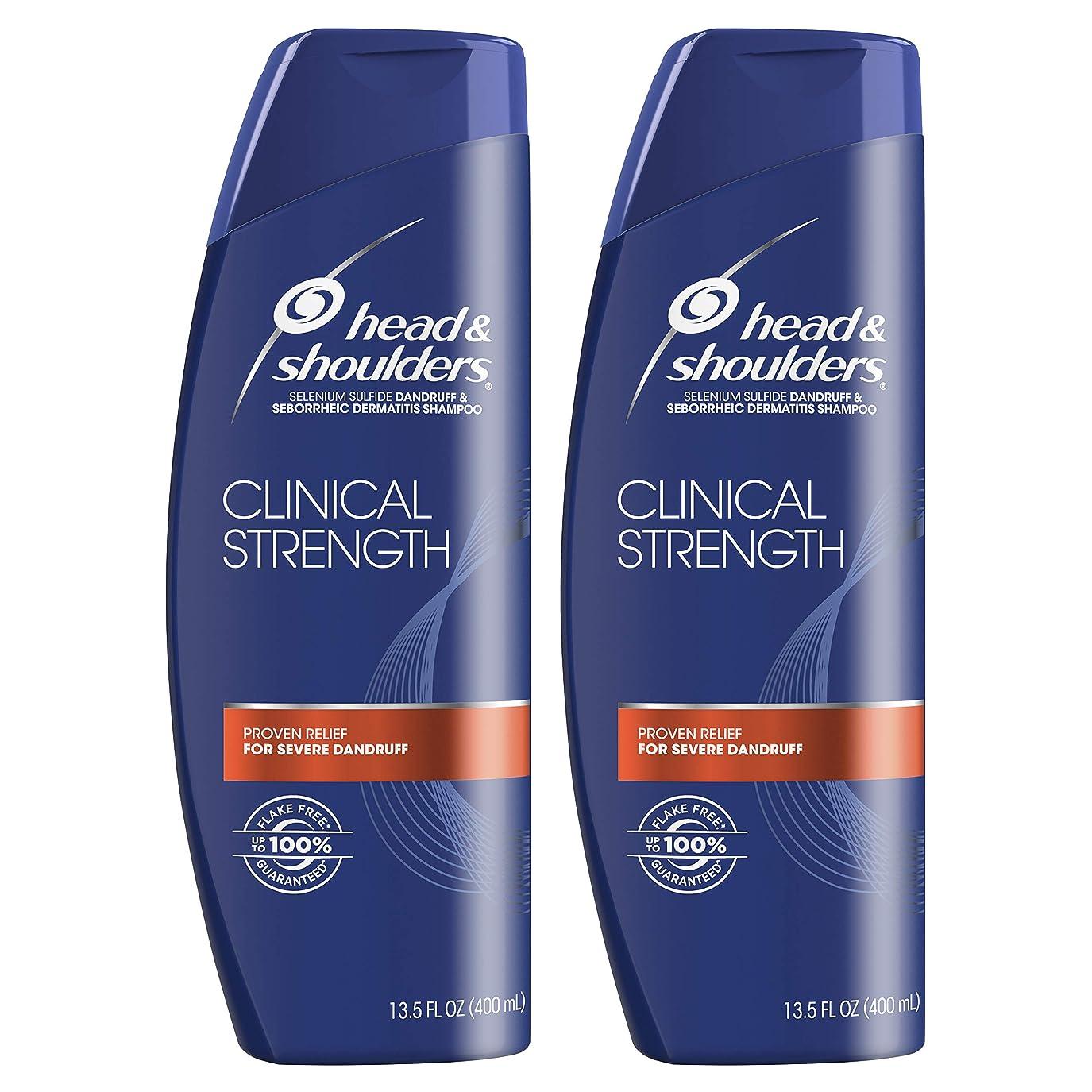 つらい恐ろしいです小切手Head and Shoulders Clinical Strength Dandruff and Seborrheic Dermatitisシャンプー、13.5?FL OZ