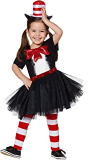 Dr. Seuss Cat in The Hat Costume Dress for Toddlers   Officially Licensed