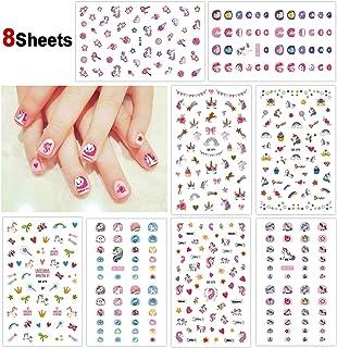 Howaf Unicornio 3D uñas calcomanías autoadherentes Calcomanía Nail Art Pegatinas Nail Sticker para niños niñas Regalo 400+...