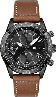 Hugo Boss Men's Analog Quartz Watch with Leather Strap 1513851
