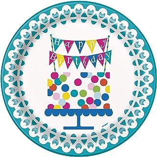 """Unique tableware party-supplies, 9"""", Multicolor"""