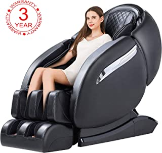 OOTORI Massage Chair, Luxurious Electric Full Body SL-Track Zero Gravity Shiatsu Massaging Chair Recliner with Heating Back, Foot Roller and Air Massage System for Home Office (Black)