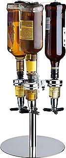 Godinger 3 Bottle Liquor Dispenser, Revolving Whiskey Bottle Wine Bottle Bourbon Vodka Dispenser Holder