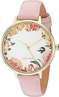 Nine West NW/2348FLPK - Reloj de pulsera para mujer, color dorado y rosa