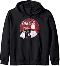 Coca-Cola Holiday Cheers Polar Bear Circle Logo Zip Hoodie