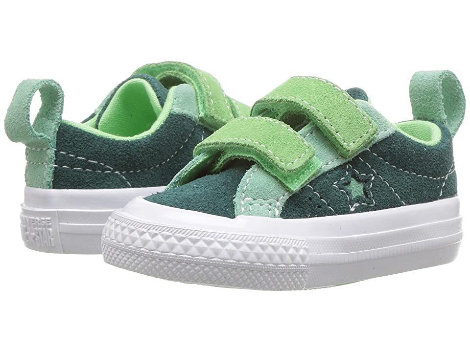 Converse Kids One Star 2V Ox (Infant/Toddler) (Ponderosa Pine/Neptune Green/Illusion Green) Boys Shoes