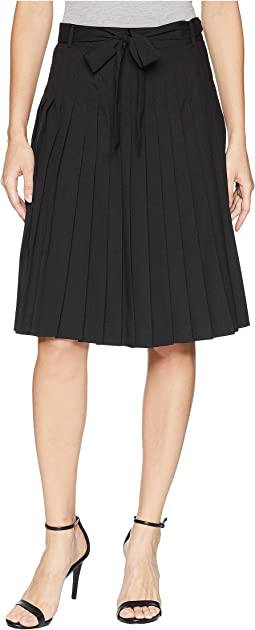 Pleated Skirt with Tie Waist