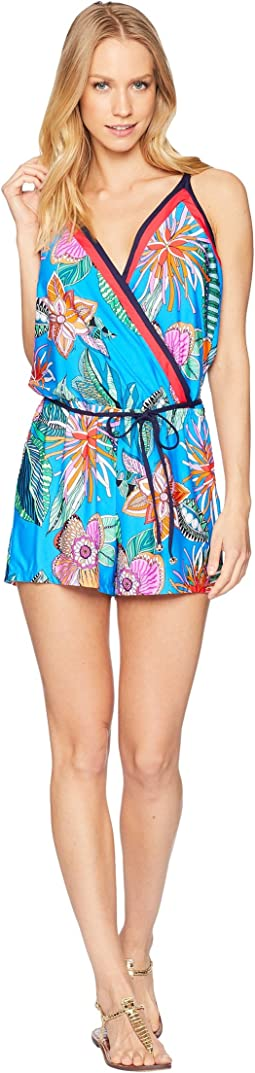 Tahiti Tropical Romper Cover-Up