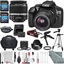 Canon EOS Rebel T6 DSLR Camera with EF-S 18-55mm f/3.5-5.6 is II Lens, Along with 64GB SDHC, and Deluxe Accessory Bundle