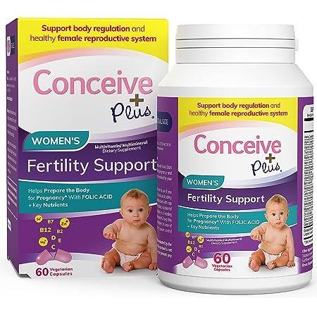 CONCEIVE PLUS Prenatal Vitamins Women | 30-Day Supply | Folic Acid, D3, Zinc, Inositol | Prepare for Pregnancy Pills | Conception Fertility Support Supplement (60 Capsules)
