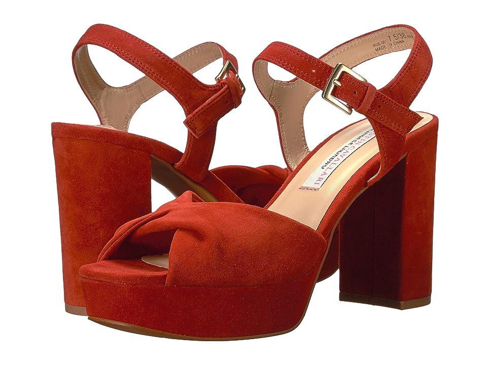 Kristin Cavallari Ryne Platform Sandal (Orange Kid Suede) Women