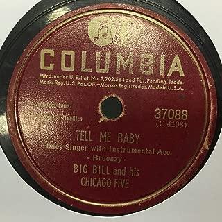 Big Bill Broonzy I Feel So Good / Tell Me Baby 78 Rpm Record