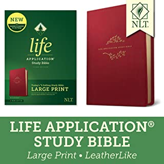 Tyndale NLT Life Application Study Bible, Third Edition, Large Print (LeatherLike, Berry, Red Letter) – New Living Transla...